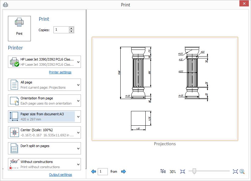 Tisk T-Flex CAD