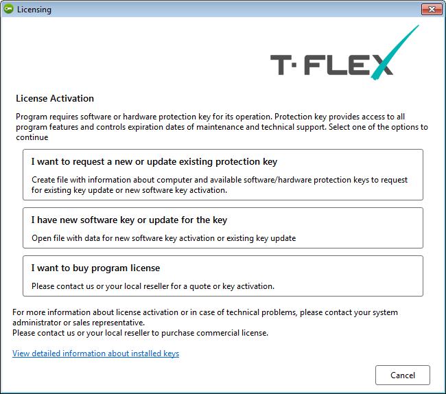 Ochranný klíč T-Flex CAD