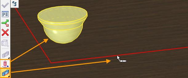 Aktivace příkazu Tažení po křivce T-Flex CAD