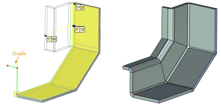 Vytvoření obrysu příruby T-Flex CAD