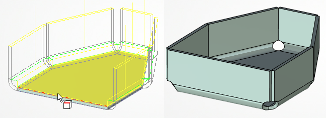 Výběr hran T-Flex CAD