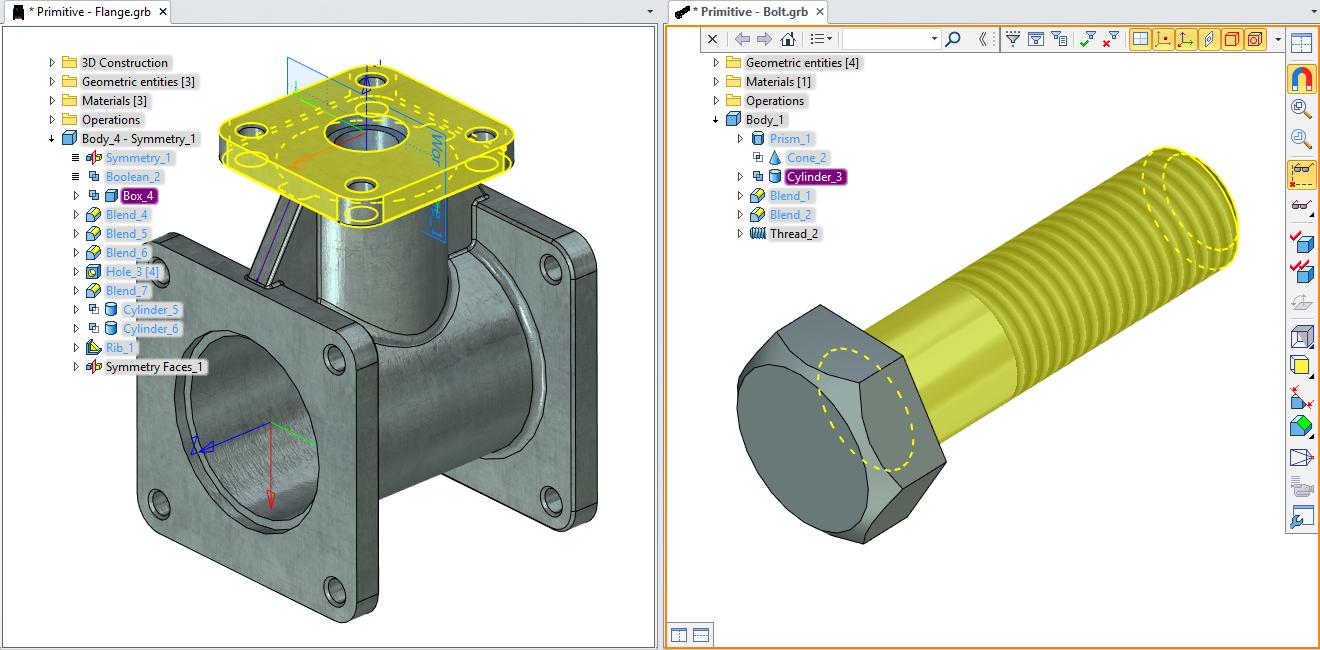 Primitiva - tvorba modelů T-Flex CAD