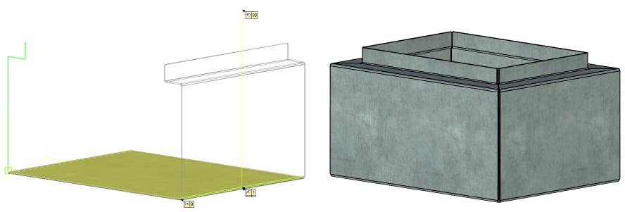 Vytvoření obrysu příruby 2 T-Flex CAD