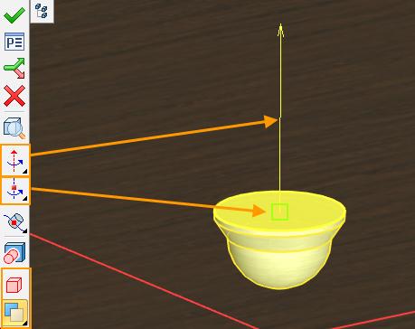 Definice rotačních os a fixních bodů T-Flex CAD