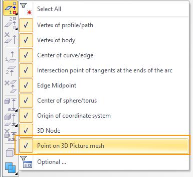 Definice směru vytažení T-Flex CAD
