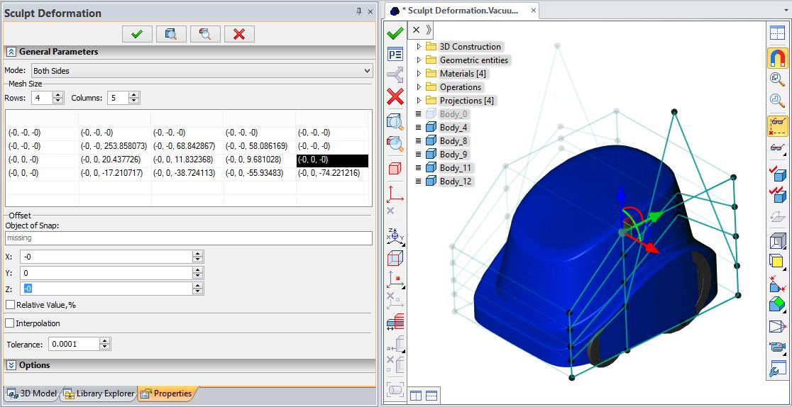 Deformace dle matice T-Flex CAD