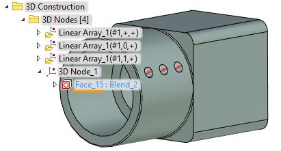 Pozice 3D bodu T-Flex CAD
