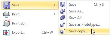 Ukládání kopií dokumentu T-Flex CAD
