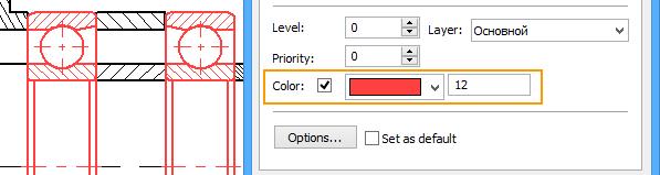 Nastavení barvy T-Flex CAD