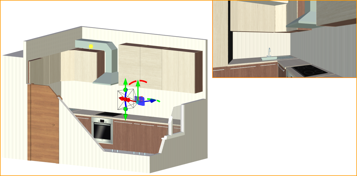 Režim náhledu kamery T-Flex CAD