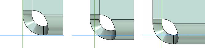 Směr tloušťky pro plechové tělo T-Flex CAD