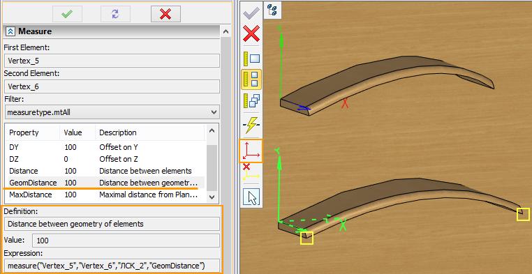Specifikace proměnné T-Flex CAD