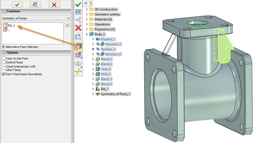 Výběr čel T-Flex CAD