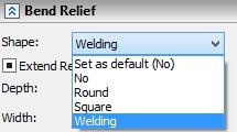 Výřez svařování T-Flex CAD