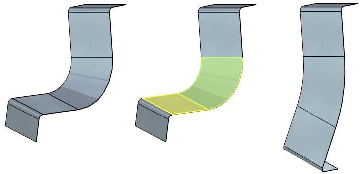 Rozvinutí a znovu ohnutí plechových těl T-Flex CAD