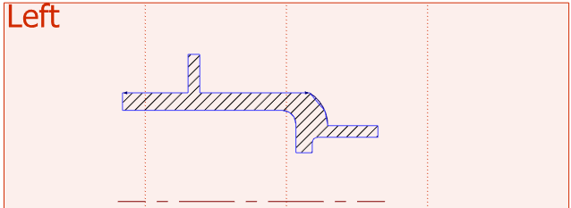 Zobrazení 2D prvků v 3D pohledu T-´Flex CAD