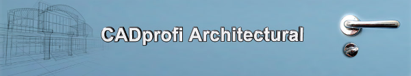 CADprofi Architecture - nadstavba pro progeCAD a AutoCAD