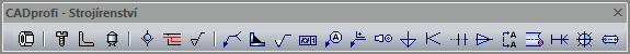 CADProfi strojírenství - nadstavba pro progeCAD a AutoCAD. panel nastrojů