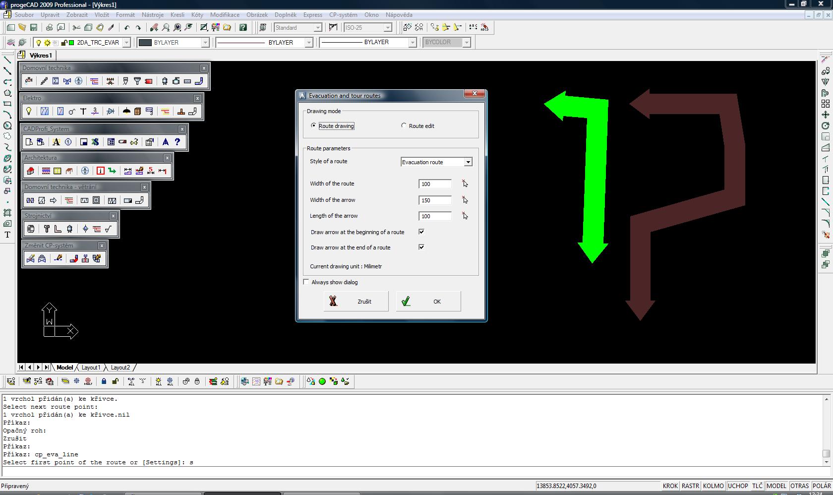 CADprofi Architecture - nadstavba pro progeCAD a AutoCAD. screenshot