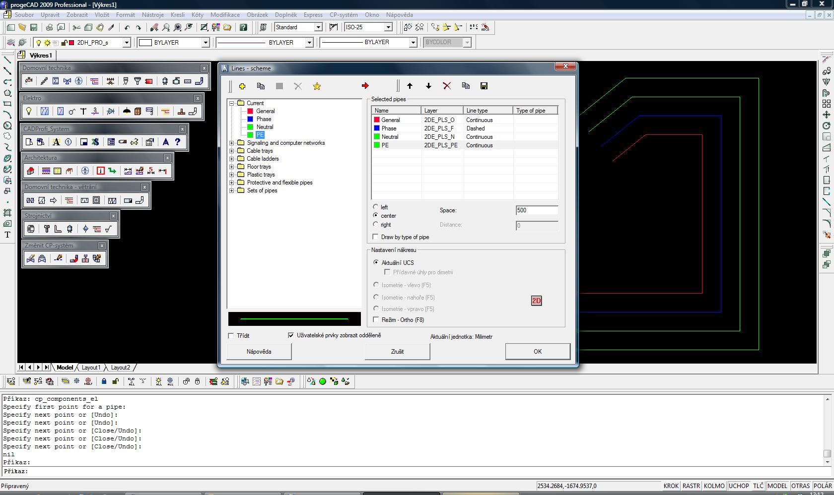 CADprofi Elektro - nadstavba pro progeCAD a AutoCAD. screenshot