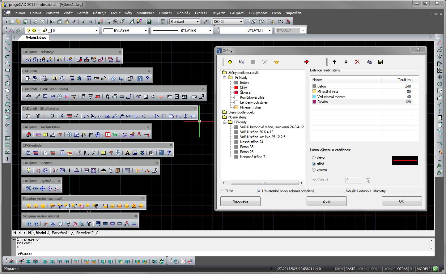 CADprofi pro progeCAD a AutoCAD. screenshot