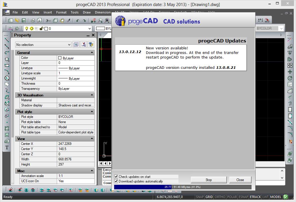 aktualizace progeCADu