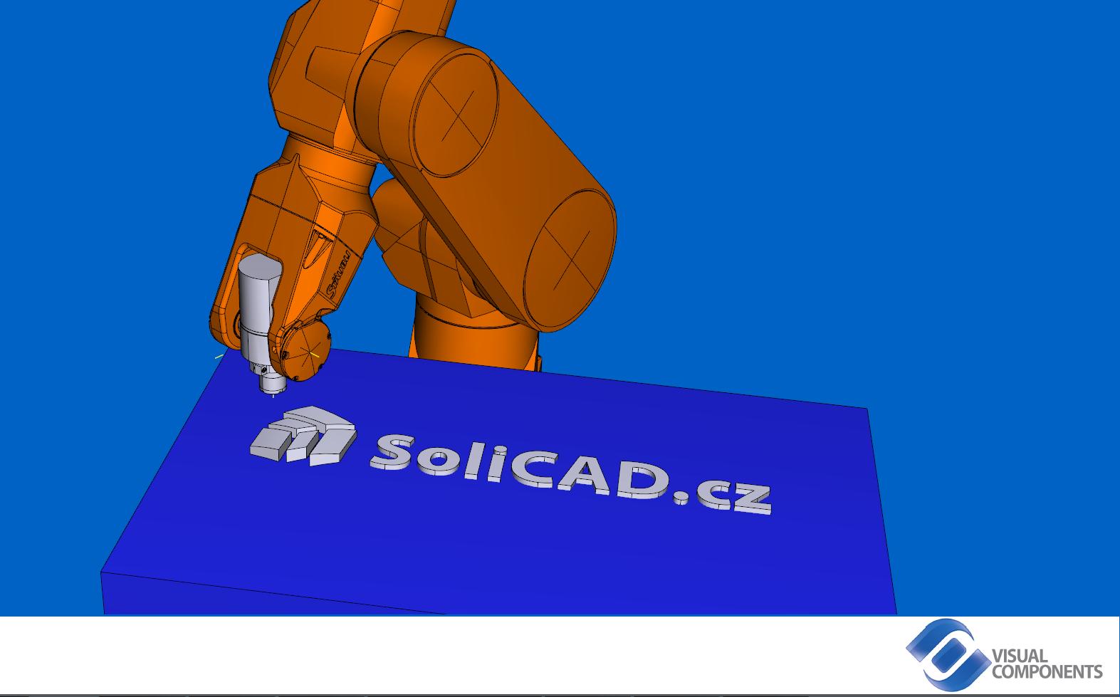 Simulace frézování v programu Visual Components