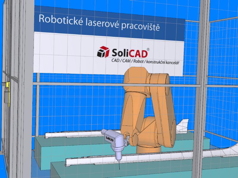 Robotické laserové pracoviště SoliCAD
