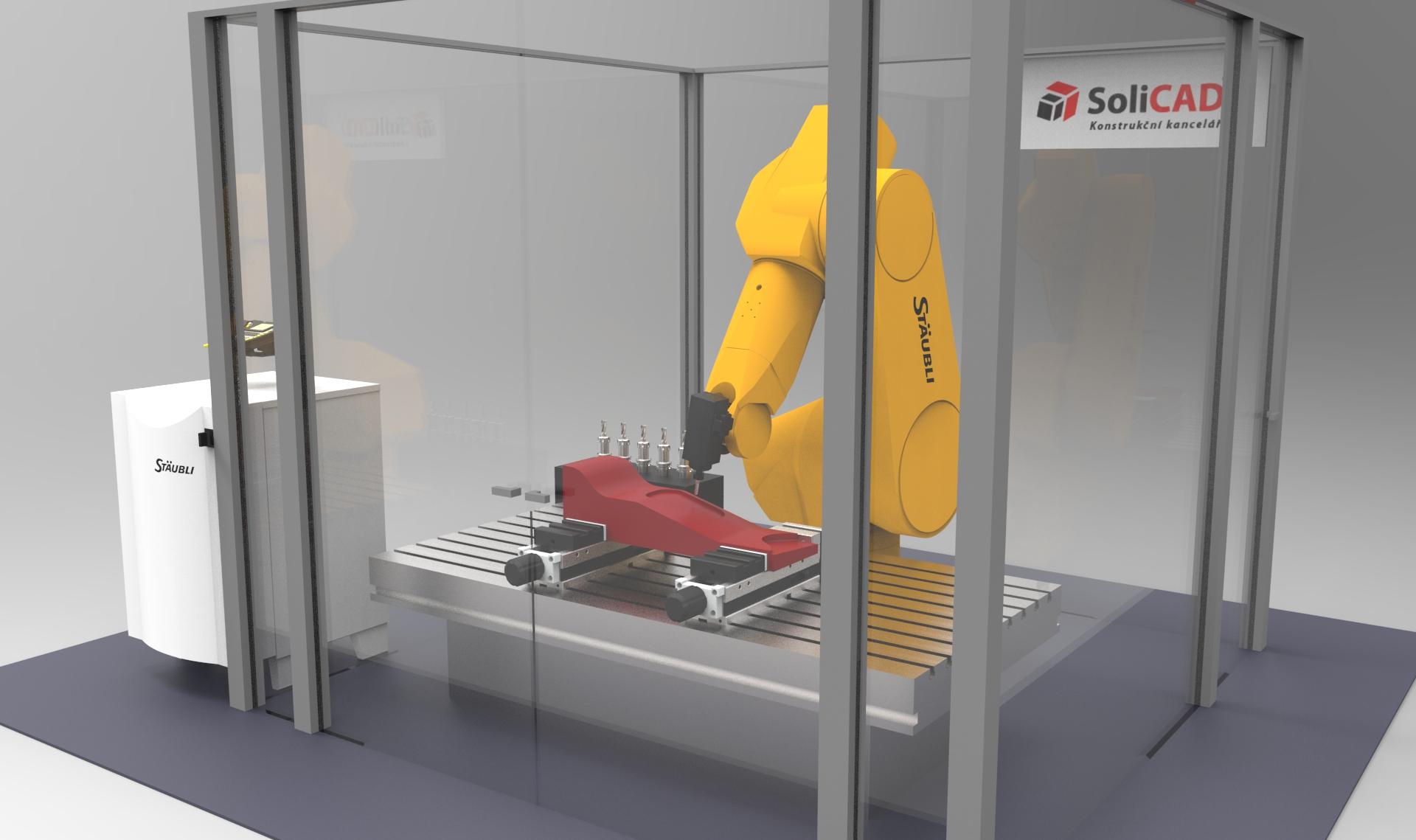Robotická buňka SoliCAD